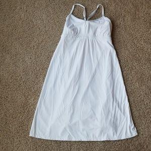 Athleta white spaghetti strap dress.